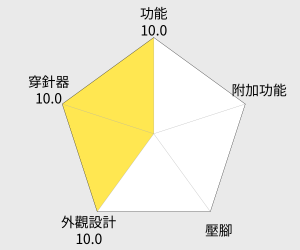 JUKI 重機牌縫紉機 HZL-G210 雷達圖