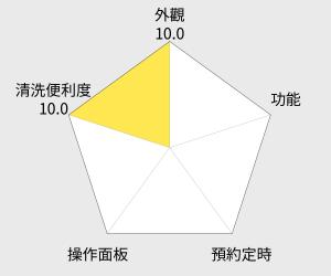 象印 黑金剛微電腦電子鍋 - 6人份 (NS-WAF10) 雷達圖