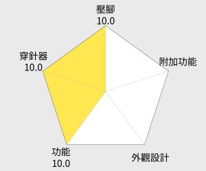 日本brother 紫語花仙子縫紉機 (JA-1400) 雷達圖