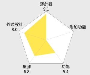 日本brother 實用型縫紉機 櫻花限定款 (AS-1430) 雷達圖