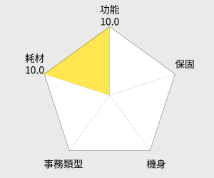 Epson 黑白連續供墨印表機 (M105) 雷達圖